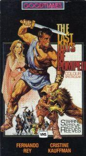 VHS Last Days of Pompeii Steve Reeves Fernando Rey