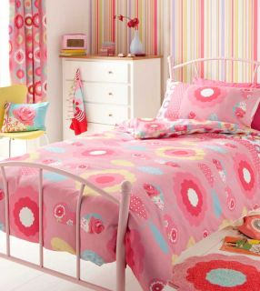 Girls Bedding Floral Duvet or Curtains or 3 PC Room Set