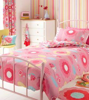 Girls Bedding Floral Duvet or Curtains or 3 PC Room Set