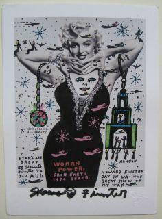 Howard Finster Marilyn Monroe Postcard Hand Signed
