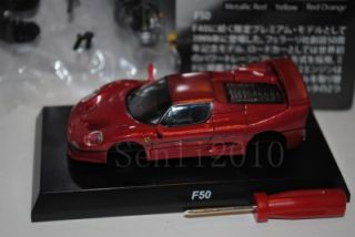 64 Ferrari VII F50 Diecast Model by Kyosho Color Dard Red