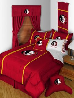 Florida State Seminoles Bed in A Bag Microsuede w Curtains Valance