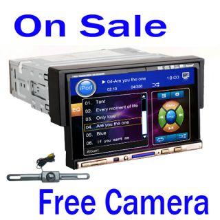 Din 7 Flip Down In Car Radio Stereo DVD CD Player FM TV IPod
