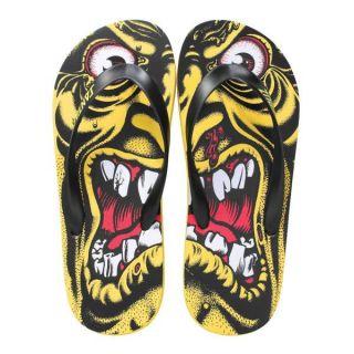 Santa Cruz Rob Roskopp Face Sandals Flip Flops Size 10