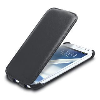 Shift LX Flip Leather Case for Samsung Galaxy Note II 2 Black
