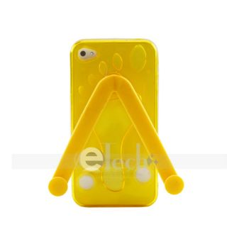 Flip Flop Yellow Slipper TPU Skin Cover for Apple iPhone 4 4G Case