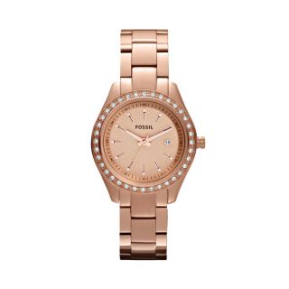 Fossil Womens Stella Mini Stainless Steel Watch   Rose #ES3196