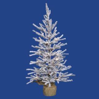 30 Prelit Flocked Angel Pine Christmas Tree   35 Clear
