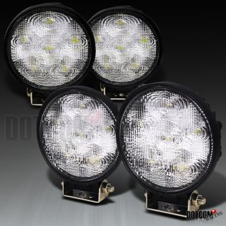 4X 18W 4 5 Round 6 LED Work Light Switch Flood Beam 4x4 Offroad Truck