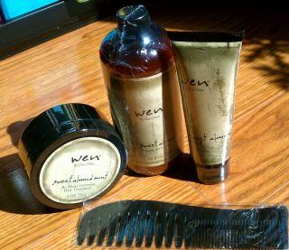 Wen Chaz Dean Hair Conditioner Remoist Comb Creme Sweet Almond Mint