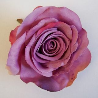 Open Rose Artificial Flower Hair Clip Pin Brooch Various Colors
