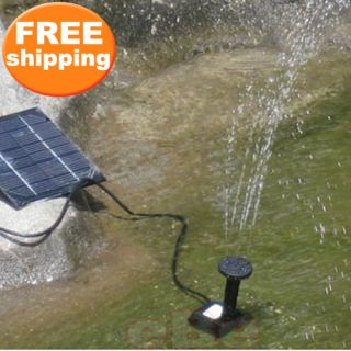 Solar Power Fountain Pond Pool Water Garden Pump Kit
