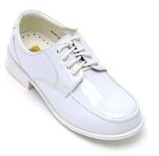 Toddler Baby Kids Boys Formal Shiny Dress Shoes White