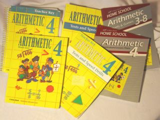 Beka Home School Arithmetic Curriculum for Fourth Grade 6 Books New