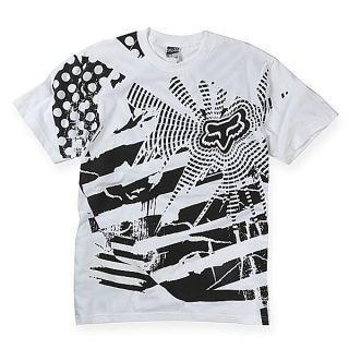 Fox Racing Explosion T Shirt Tee White Black XLarge XLG