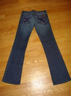 SEVEN 7 FOR ALL MANKIND JEANS DARK WASH STRETCH FLYNT BOOTCUT 26