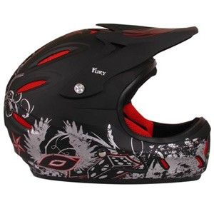 Neal Fury Full Face Downhill Freeride BMX Helmet Size Large