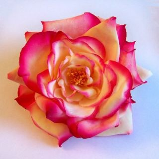 Rose Artificial Flower Hair Clip Pin Brooch Various Colors