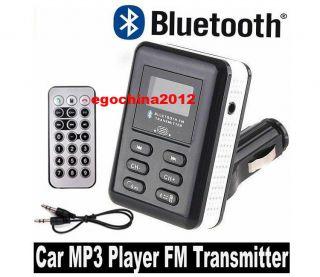 BLUETOOTH CAR KIT HANDS FREE PHONE SPEAKER FM TRANSMITTER /MP4