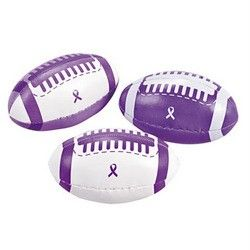 Purple Ribbon Footballs Lupus Cystic Fibrosis Relay for Life Cancer