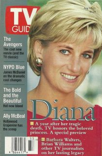 Princess Diana Ralph Fiennes 1998 TV Guide Magazine