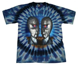 Pink Floyd Division Bell Album Psychedelic Tie Dye T Shirt Tee