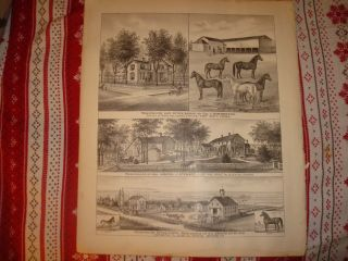 Humboldt Fort Scott Allen County Kansas Antique Print N