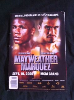 Floyd Money Mayweather vs Juan Manuel Marquez boxing program and