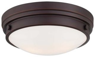 Minka Lavery 2 Light Flushmount Ceiling Fixture in Lathan Bronze 823