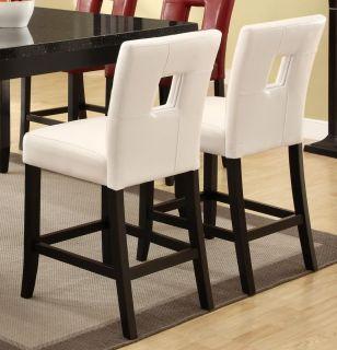 Newbridge White Vinyl Counter Height Stool Chair by Coaster 103619WHT