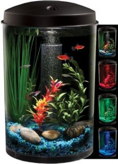 KollerCraft AQUARIUS AquaView 360 Aquarium Kit with LED Light 3 Gallon