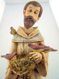 Bird Nest Saint St Francis Statue Patron of Animals Peace Hope Joy