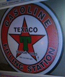 Texaco Filling Station Gasoine metal tin Sign