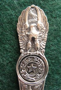 Sterling Silver Souvenir Spoon Fort Worth TX 1900
