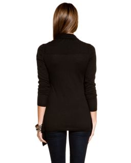 forte cashmere two in one black waterfall sweater $ 407
