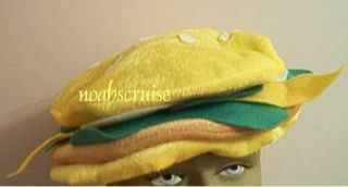 hamburger hat food costume accessory prop adult child buns cheese