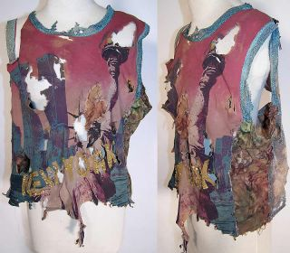 Vintage Movie Costume Jane Doe Jeans NY Statue Liberty Twin Towers