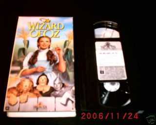 e Wizard of oz VHS Judy Garland Frank Morgan 027616520432