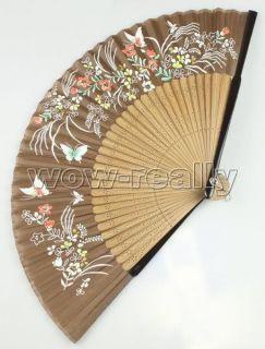 Collectibles Handcraft Art Silk Bamboo Folding Fan