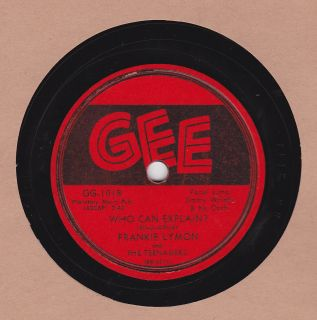 Doo Wop Frankie Lymon The Teenagers on Gee 78 GG 1018