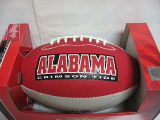 CRIMSON TIDE Size FOOTBALL with Kicking Tee Rawlings Plan Attack