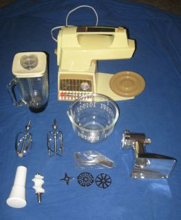 Oster Kitchen Center Food Grinder Head Beater Blender Mixer Set Lot