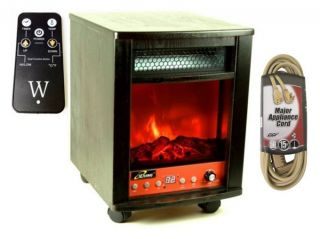 Iliving 1500 Watts Electric Portable Fireplace Space Heater Remote w