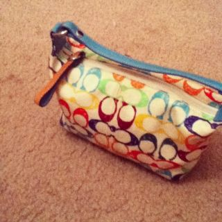 Coach Scribble Multi Color Signature Top Handle Handbag Purse