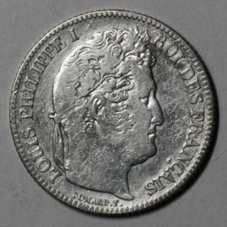 1848 A VF France 1 Franc Louis Philippe I Last Issue Year of