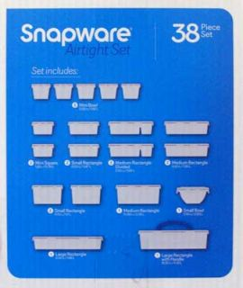 Snapware 38 PC Food Storage Containers w Lids Airtight