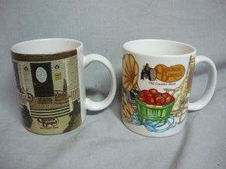 Cracker Barrel Old Country Store Coffee Mugs Vintage Nice