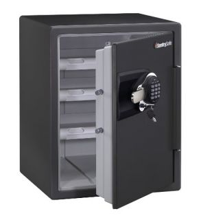 SentrySafe Fire Safe Electronic Safe 2 0 Cubic Feet Gun Metal Grey