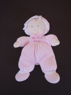 Baby Gund Pink Velour My First Dolly Doll Rattle 5658