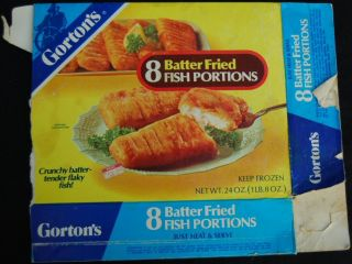 TV Dinner Box 1970s 1980s Gortons Fried Fish Frozen Food Box